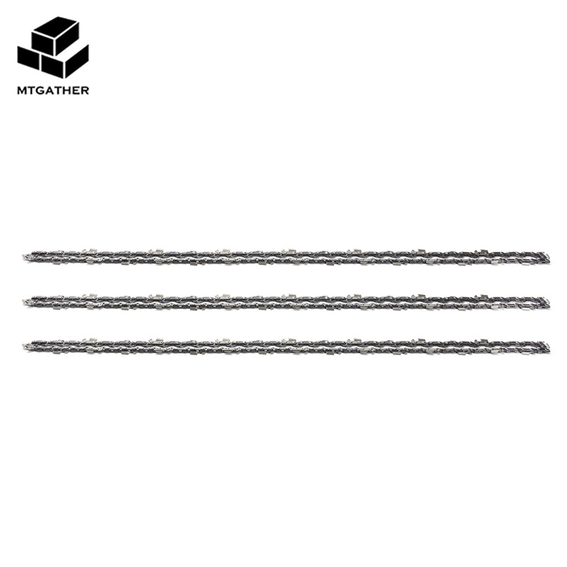 MTGATHER 3x Chainsaw Semi Chisel Chains 3/8 050 64DL Bar For Select Chain-Saws Structural Alloy Steel Chain 18 inch chainsaw chain 68 link bar 1 6mm x 0 325 lp garden chains saws alloy power tool parts