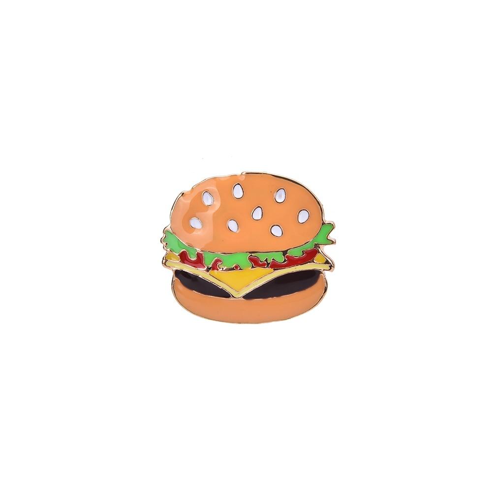 Buy Cheap 1 Pc Kawaii Food Series Badge Hamburg Pizza Hot Dog Brooches Metal Decoration Badges Home & Garden Apparel Sewing & Fabric