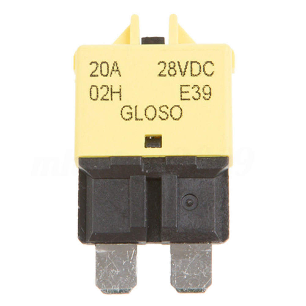 5-30A Circuit Breaker Blade Fuse Resettable Auto Manual Car Marine Rally 12V24V