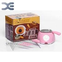 Hause Spaß Schokolade Maschine DIY Schokolade Topf Ofen Schmelztiegel Hohe Qualität Schokolade Brunnen Rosa