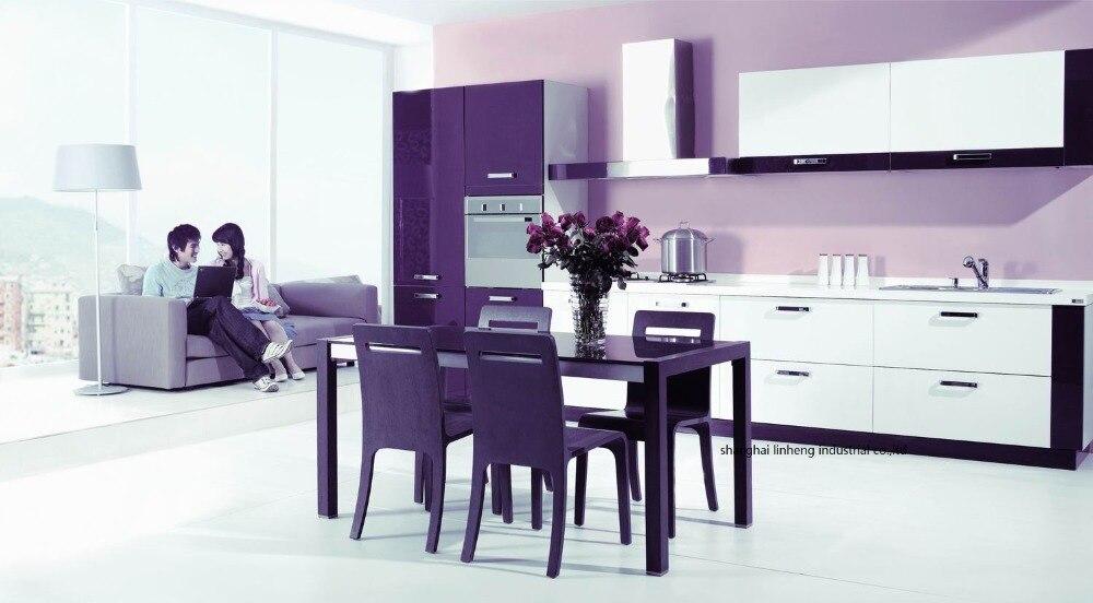Haute brillant/laque armoires de cuisine mordern (LH-LA047)