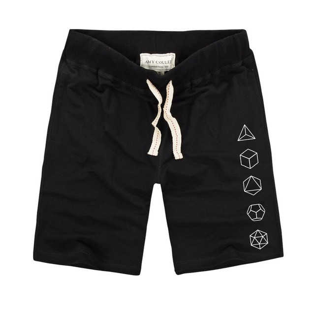 Platonic Sacred Geometry Evolution Printed Creative Men Shorts 2