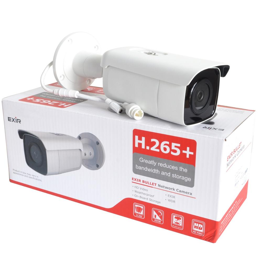 Version internationale originale 8 MP (4 K) DS-2CD2T85G1-I8 caméra réseau H265 caméra de vidéosurveillance alimentée par sombre avec fente pour carte SD