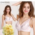 85D ONEFENG brand cross dressing bra lace women men shemale silicone breasts forms matching 2017 hot selling