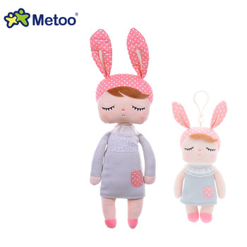 13 дюймов плюшевый милый набитый ангел кролик девочка кукла Metoo животные мультфильм дети игрушки дизайн для дня рождения Рождественский под...