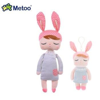 13 Polegada Metoo coelho Angela Menina boneca de pelúcia recheado bonito projeto animal Dos Desenhos Animados Crianças brinquedos para o Aniversário Presente de Natal