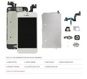 Image 5 - Écran AAA pour iPhone 5 5C 5S 5SE écran LCD assemblage complet écran tactile LCD numériseur remplacement complet pantalon + bouton + appareil photo