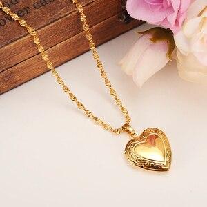 Женское ожерелье с подвеской в виде сердца, золотистого/серебристого цвета, ожерелье с подвеской «Пророк» и «Мохамед»