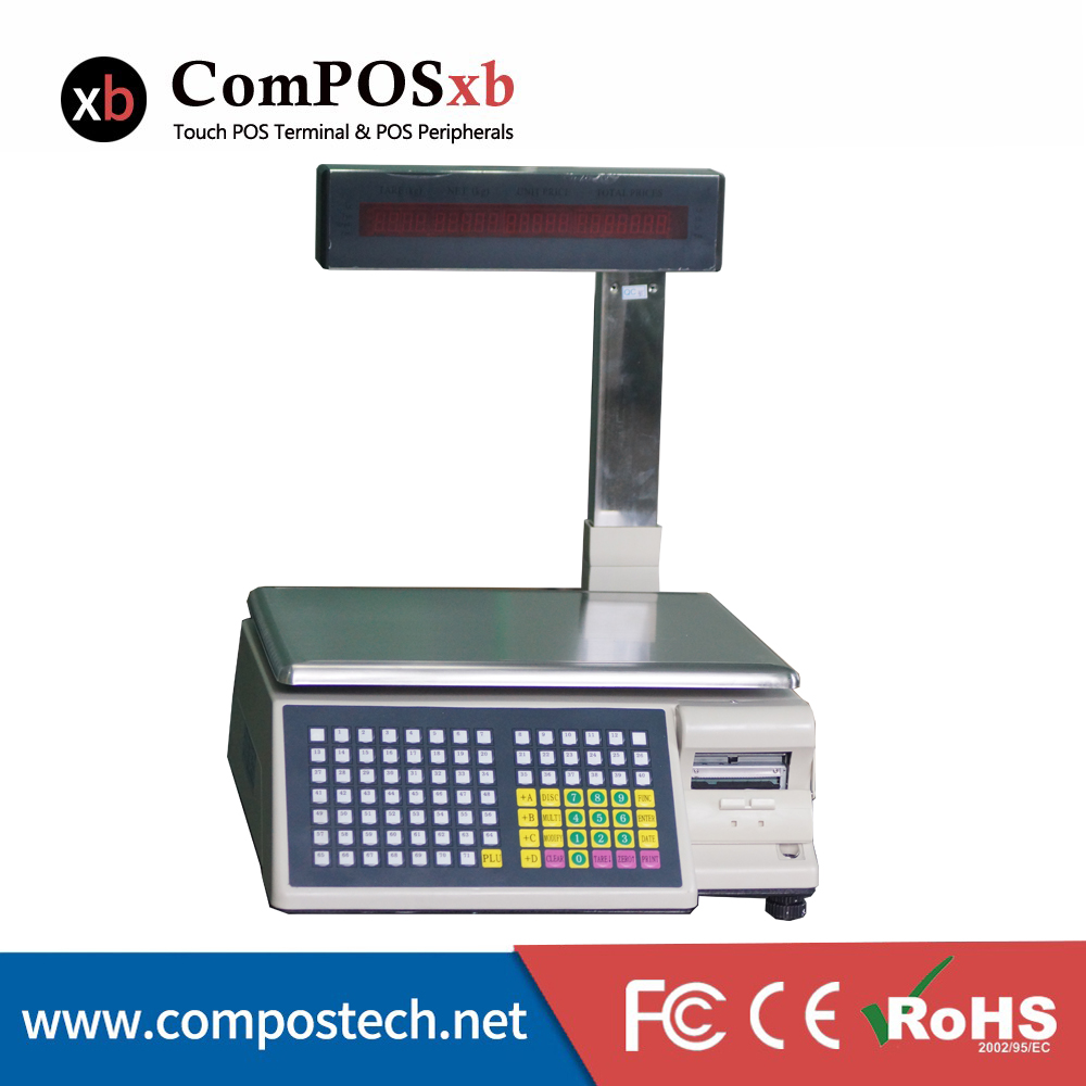 free shipping TM Ad MAX 30KG electronic barcode scale weighing scale label printing for Supermarket