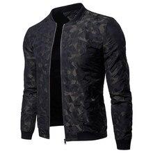 Vogue Для мужчин Куртки хороший новый осень Повседневное брендовая одежда  со стоячим воротником с длинным рукавом Мужской Верхня.. 37b1a3382ec