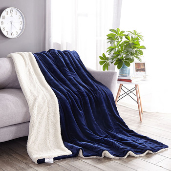 Winter thickened office nap cover legs pure lamb velvet blanket warm adult throws lid soft   comfortable fluffy cover bedding