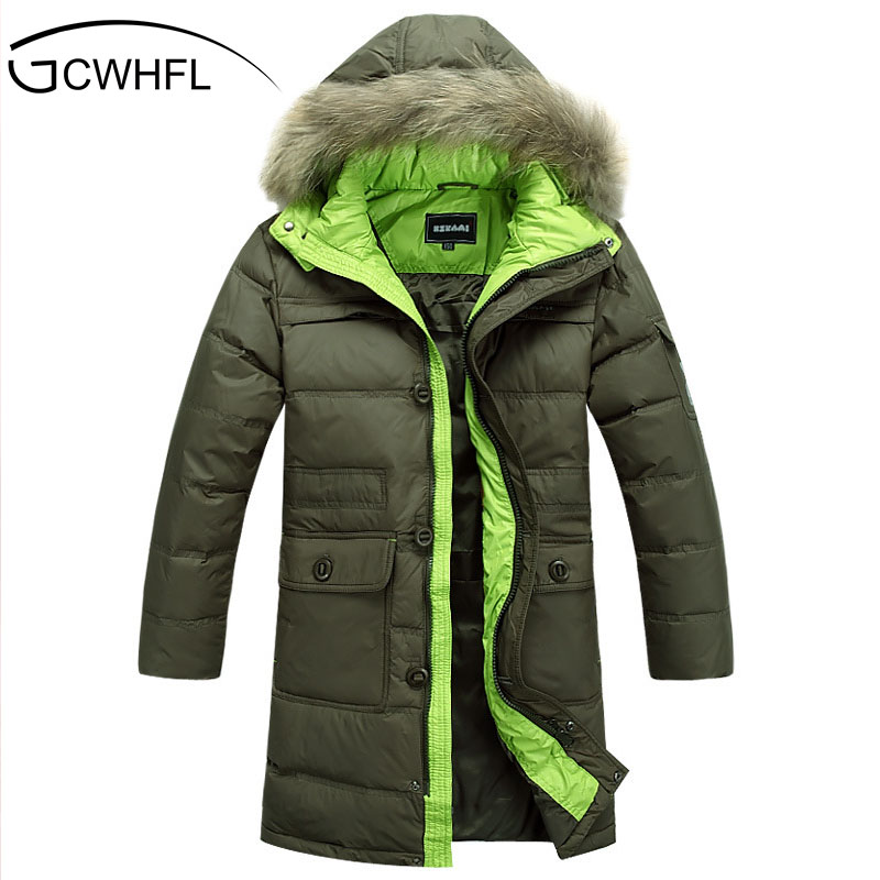 ФОТО Boys High Velvet And Long Sections Thicker Down Jacket Children Leisure Style Solid Clothjng The Hot Selling Winter Boys Coat