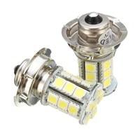 2 PCS 12V AC P26 S 24 SMD LED White Motorbike Motorcycle Headlight Car Bulb Lamp