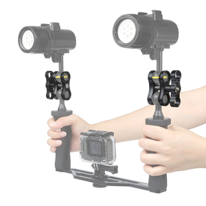 Image 5 - SHOOT Aluminum Diving Lights Ball Butterfly Clip Arm Clamp Mount for GoPro Hero 7 6 5 Xiaom Yi 4k Sjcam Action Camera Accessory