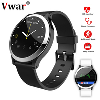 Vwar B65 ECG PPG Smart Watch With Blood Pressure Heart Rate Monitor IP67 Waterproof Smartwatch Wristwatch For Lenovo iPhone