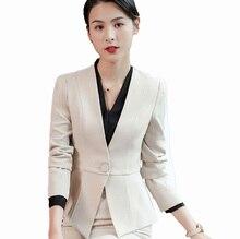 Flying Roc 2019 Autumn Elegant Blazer Flores Mujer Blazer Skirt Suit Office Lady Blazer Ropa De Oficina Full Sleeve Skirt Suits