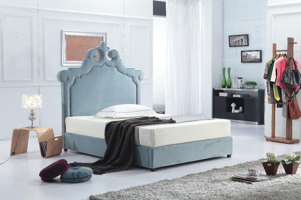 Tapizado de tela suave marco de la cama de estilo Dubai príncipe ...