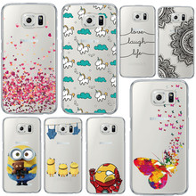 Soft Fashion Minions Design Phone Case Cover for Samsung Galaxy S6 4 5 7 S6 Edge Plus Coque
