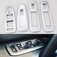 BBQ@FUKA 4pcs Matte Car Door Window Switch Button Control Panel Cover Trim For 2014 Peugeot 408 Car accessories car styling