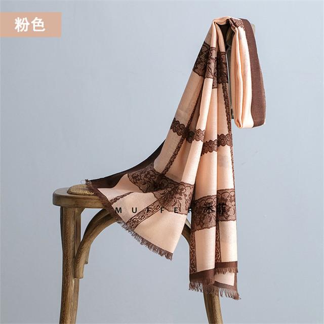 100% Lã Rendas Borboleta Impresso Mulheres Cachecóis Outono Inverno Quente Cabo Wraps Xales de Alta Qualidade Marca de Luxo Da Moda Echarpe S7