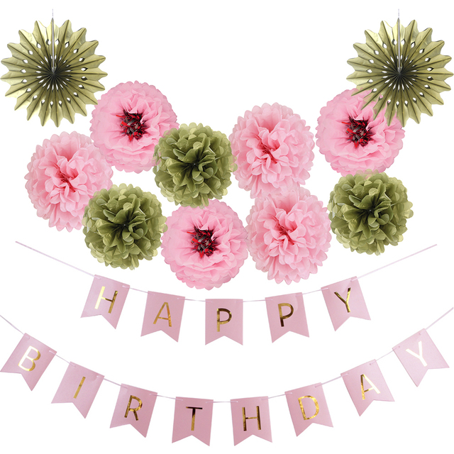 12pcsset pink themed party supplier tissue paper pom poms flower 12pcsset pink themed party supplier tissue paper pom poms flower balls for princess mightylinksfo
