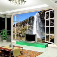 Large Custom Wallpapers Outdoors Ultra HD Dream Falls Streaming TV Living Room Bedroom Background Home Decor