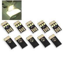 5Pcs Mini USB Power LED Licht Nacht Camping Eqpment für Power Bank Computer Ultra Low Power 2835 Chips Tasche karte Lampe