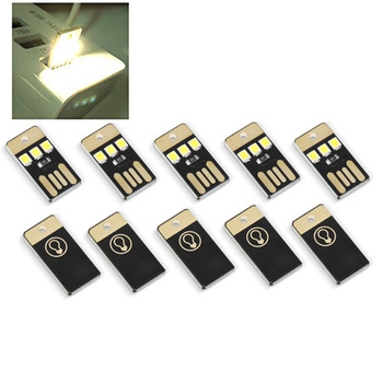 5 stks mini USB LED light night kampeeruitrusting voor powerbank en computer ultra low power 2835 chips pocket card lamp
