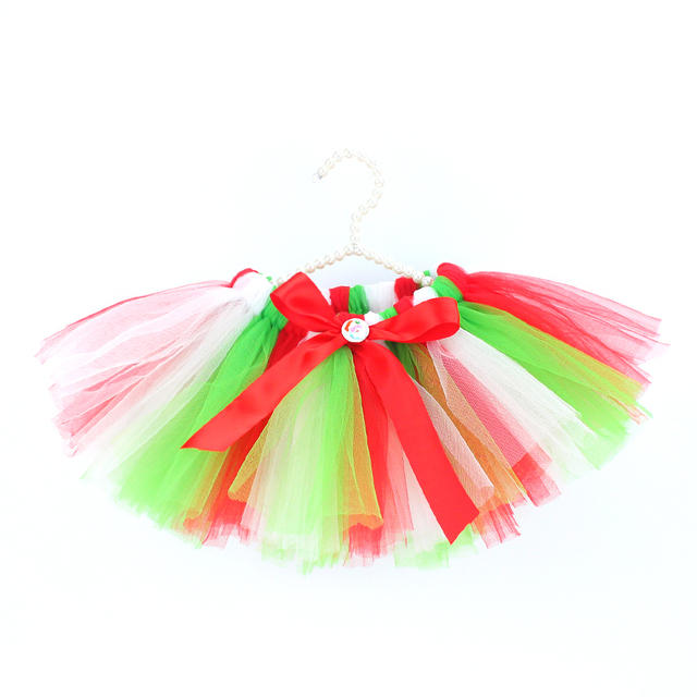 a11bdc6ab0 DIY handmade soft fluffy tutu skirts for baby girls Christmas red green  white ballerina pettiskirts newborn