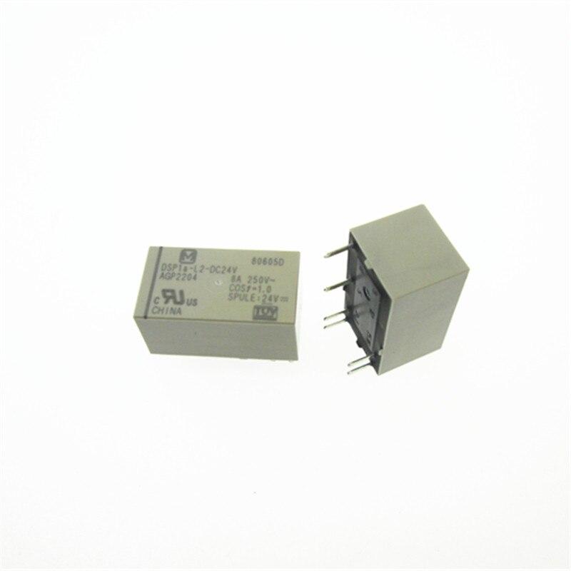 relay DSP1a L2 DC24V AGP2204 DSP1aL2DC24V 24V DC24V 24VDC DIP6 10PCS LOT