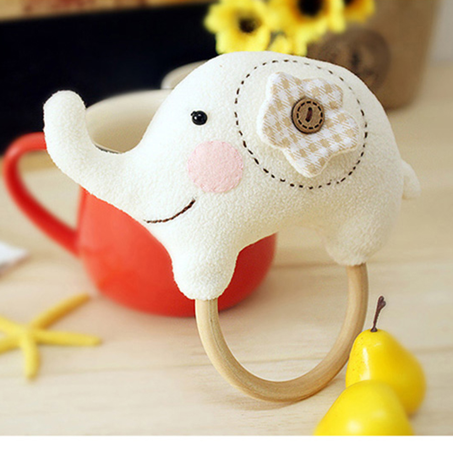 Sound Toys For Babies Baby Soft Rattles Teethers Elephant Stuffed Baby Born Doll Cloth Animal Juguetes Bebes Dolls Cloth 70C0066