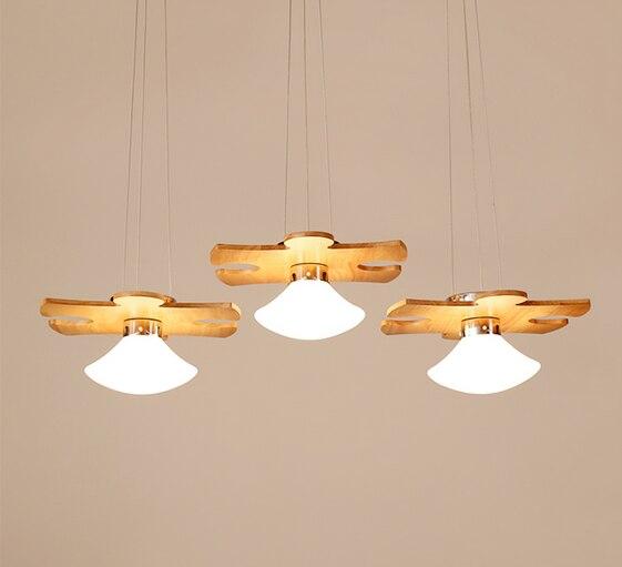 Nordic головоломки Форма светодиодный 3 огни чердак подвесной светильник дуб Ретро лампа E27 110/220 В 90 см шнур подвесной светильник