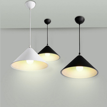 White/Black Hanging Lamp Industrial Lighting Iron Metal Vintage Lamp E27 220v For Decor Kitchen Light