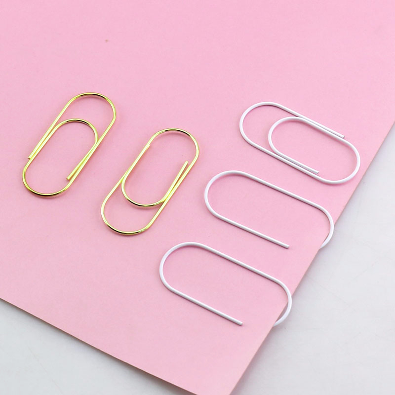 20/15 Pcs 50x20mm Large Size Paper Clips Decorative 7 Colors Available Large Wide Paper Clips Kawaii Photo Clip Office Clips