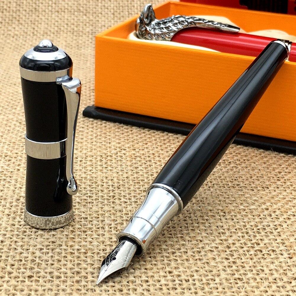 Fountain Pen Noble Iron Grey 18KGP F Nib Fountain Pen Stationery School/&Office Writing Pen Fountain Pen Color : 01, Size : Free