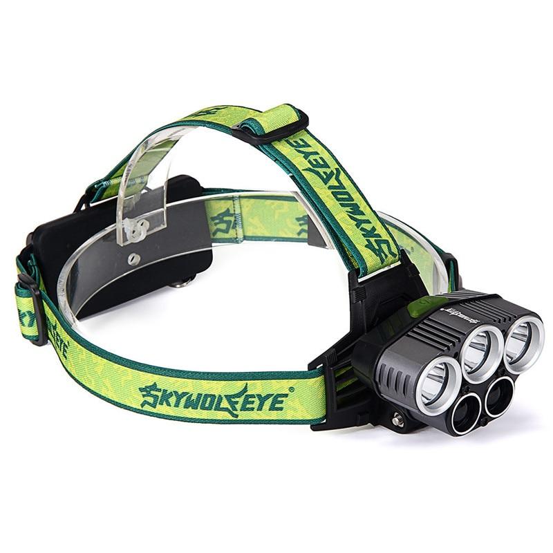 100000LM 9X T6 LED Lampe Frontale Rechargeable phare Lampe de poche torche Lampe