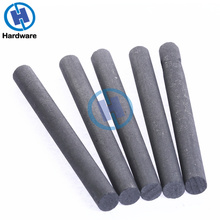 Varilla de carbono negra para herramientas industriales, varillas de cilindro de electrodos de grafito 99.99%, barras de 100x10mm, 5 uds.