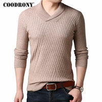 COODRONY Cashmere Sweater Men Clothing 2018 Autumn Winter Thick Warm Wool Sweaters Casual Crew Neck Pullover Men Turtleneck 8187