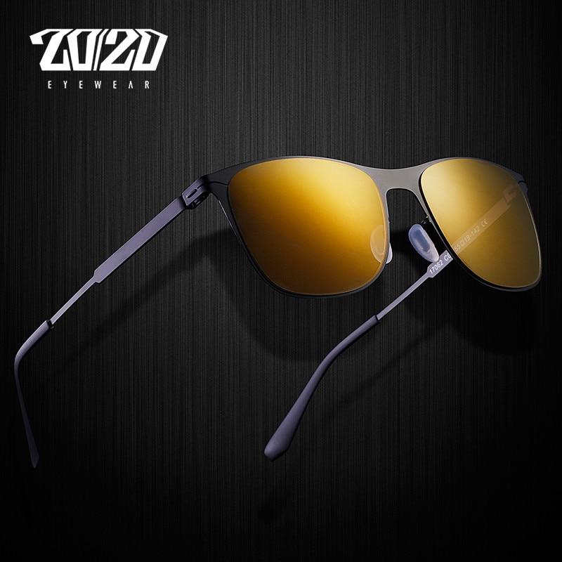 76bccfa537e26 20 20 Marca Unisex Do Vintage Óculos De Sol Dos Homens de Metal Quadrado Sem