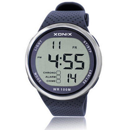 Reloj deportivo digital impermeable para natación