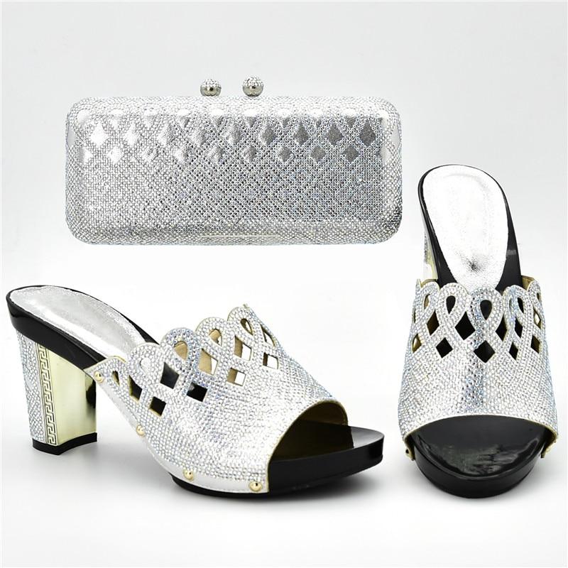 púrpura Italiano Juego Decorado A Diseñadores Los Bolsos Y Diseñador plata Imitación Bombas rojo Lujo Las Diamantes Con Negro Mujeres Zapatos Nigeria De qXdWwWFBH