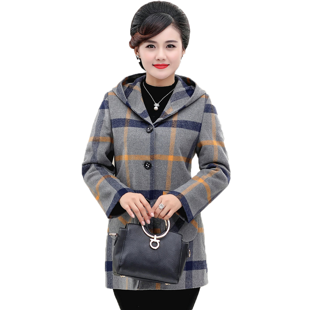 Mature Women   Basic     Jackets   Gray Outerwear Middle Aged Woman Spring Autumn Coat Lady Elegant   Jacket   Mother Clothings Outfits 2019