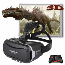 Shinecon VR Pro Version Virtual Reality 3D Glasses Headset Head Mount Google Cardboard Movie Game For 4.5-6.0 inch Phone +Remote