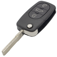2 3 3 WhatsKey 2 3 Button Folding Key Case Shell Fob For Audi A4 A6 A8 TT Quattro RS4 With Logo (2)