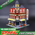 2016 New 2133Pcs LEPIN 15002 Creators Cafe Corner Model Building Kits Blocks Kid Toy Gift Compatible With 10182