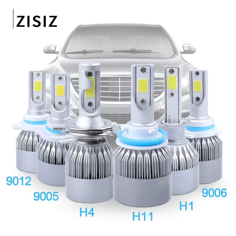 Image 2 - 2Pcs 12V C6 led h1 Auto Led Headlight Kit H4 Bulb h10 H11 9005 9006 H8 H9 9012 72W 3500lm Lamp Cob Car Light Fog Lights Canbus-in Car Headlight Bulbs(LED) from Automobiles & Motorcycles