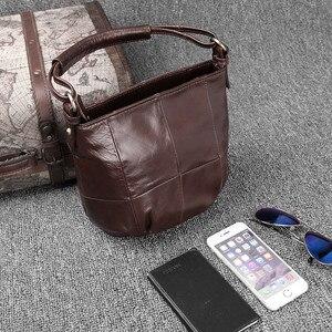 Image 2 - Ayakkabıcı Legend Vintage kova çanta kadın omuzdan askili çanta hakiki deri kadın tote alışveriş çantası marka tasarımcısı çanta kadın