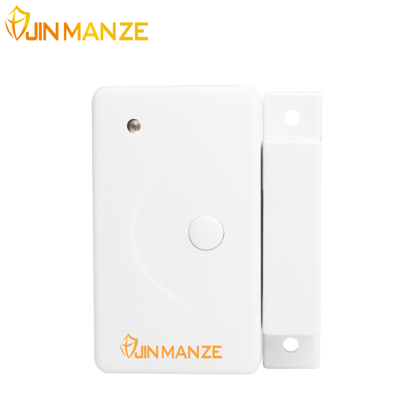 New JINMANZE 1Pcs 433MHZ Wireless Home Security Alarm Door Window Sensor Detector for Wireless GSM PSTN Alarm host Siren high quality 1pcs 433 mhz wireless home security door window sensor detector with battery for gsm pstn alarm system