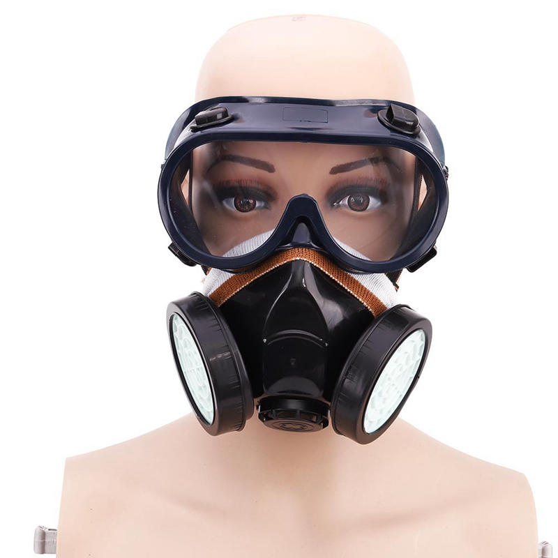 Silicone Anti-virus Dustproof Protective Mask And Glasses Suits Chemical Gas Defense Fire Control Activated Carbon Masks 3m4510 disposable anti dust and dustproof overalls non woven fabrics lightweight chemical protective suits