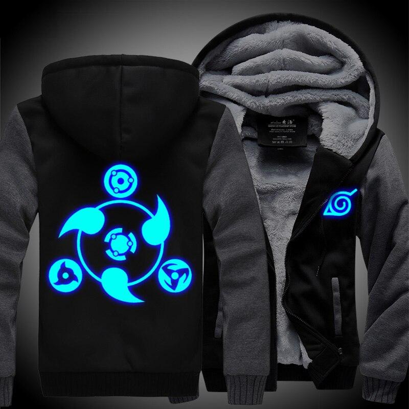 Anime NARUTO Uchiha Sasuke Sharingan Mens Sweatshirt Hoodie Winter jacket coat